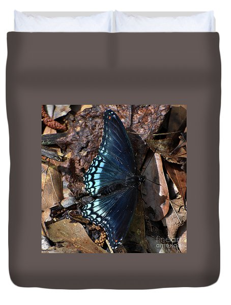 Duvet Cover featuring the photograph Red Spotted Purple Admiral by Skip Willits