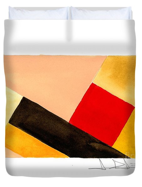 Red Square Duvet Cover