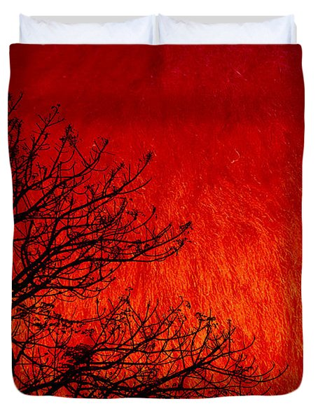 Red Storm Duvet Cover by Charuhas Images