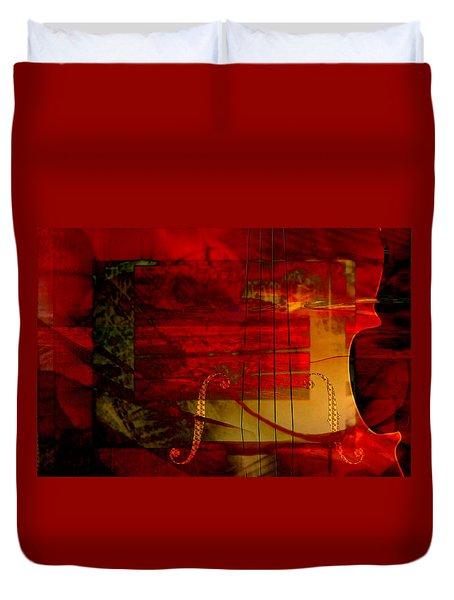 Red Strings Duvet Cover