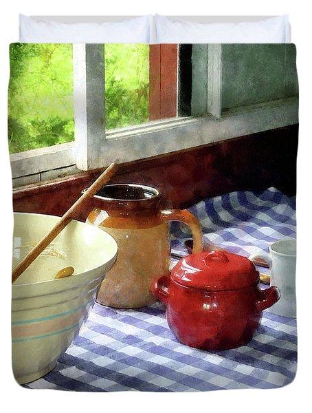 Red Sugar Bowl Duvet Cover