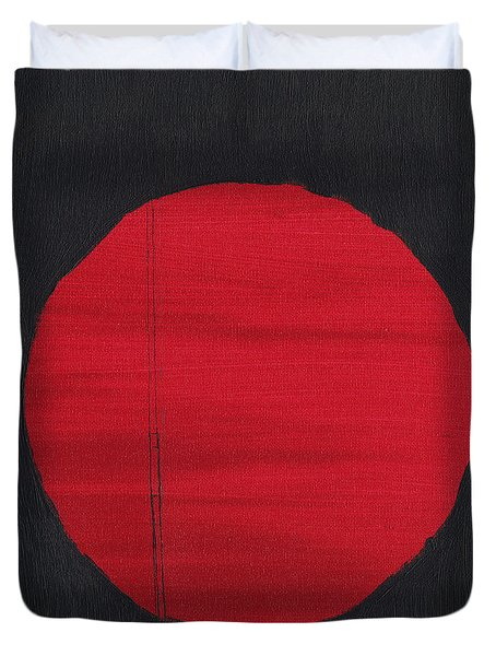 Red Sun Duvet Cover