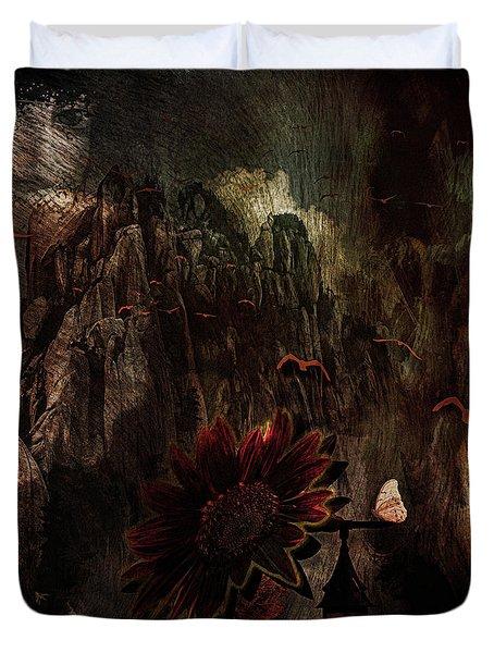 Red Sunflower Duvet Cover