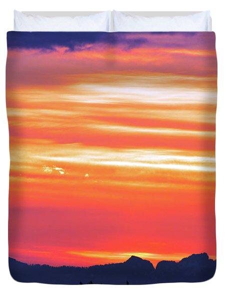 Red Sunrise Duvet Cover
