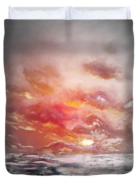 Red Sunset 77 Duvet Cover