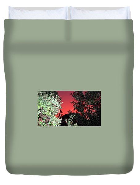 Red Sunset Duvet Cover