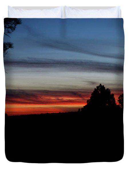 Red Sunset Strip Duvet Cover