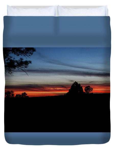 Red Sunset Strip Duvet Cover