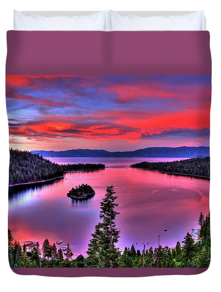 Red Tahoe Duvet Cover