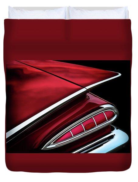 Red Tail Impala Vintage '59 Duvet Cover by Douglas Pittman
