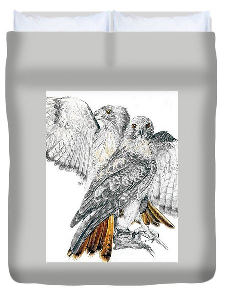Red-tailed Hawk Duvet Cover by Barbara Keith