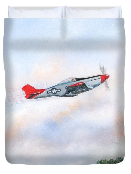 Red Tails Duvet Cover