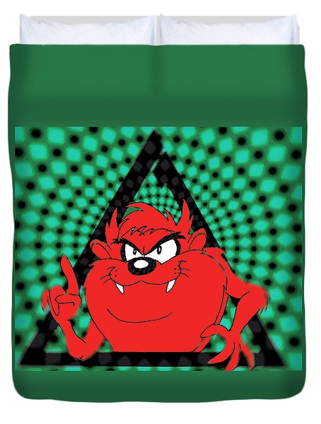 red Taz items Duvet Cover