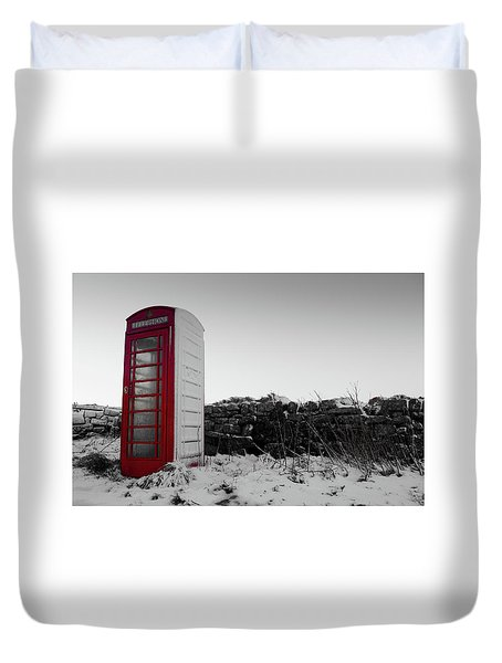 Red Telephone Box In The Snow Vi Duvet Cover