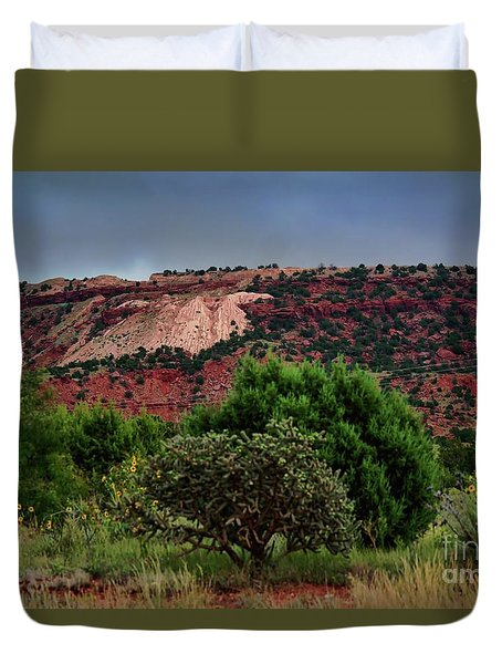 Duvet Cover featuring the photograph Red Terrain - New Mexico by Diana Mary Sharpton