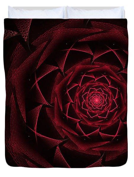 Red Textile Rose Duvet Cover