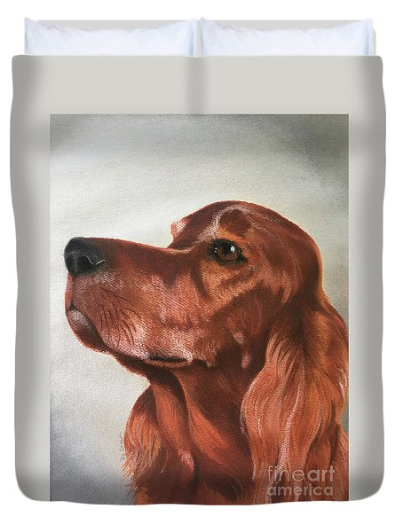 Red The Irish Setter Duvet Cover