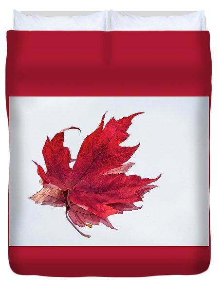 Red Threads Duvet Cover