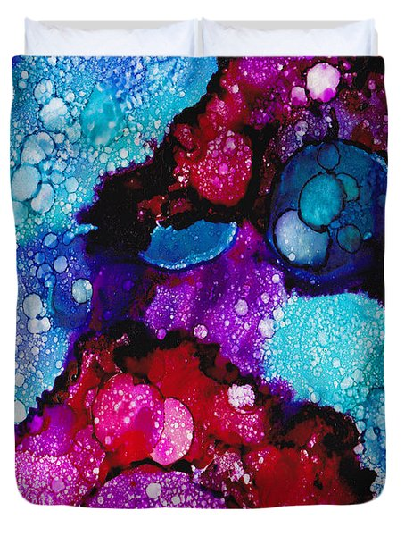 Red Tide Pools Duvet Cover