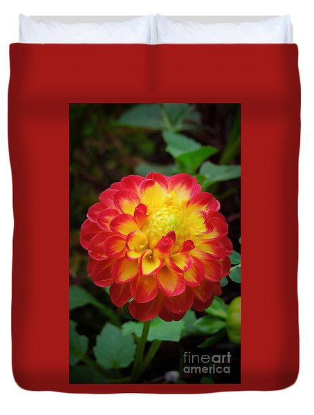 Red Tipped Petals Duvet Cover