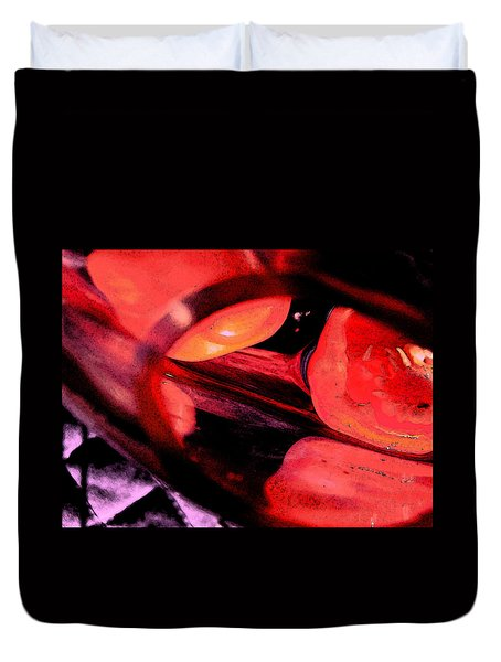 Duvet Cover featuring the photograph Red Tomatoe Two by Richard Ricci