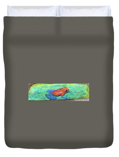 Red Tree Frog Duvet Cover