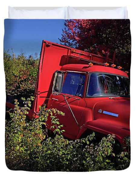 Red Truck Duvet Cover