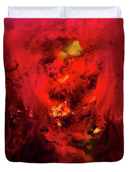 Red Universe Duvet Cover
