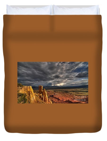 Duvet Cover featuring the photograph Red Valley by Brian Spencer