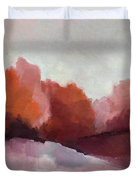 Red Valley Duvet Cover