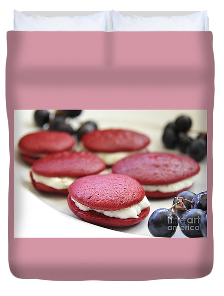 Red Velvet Whoopie Pie  Duvet Cover by Suzanne Oesterling
