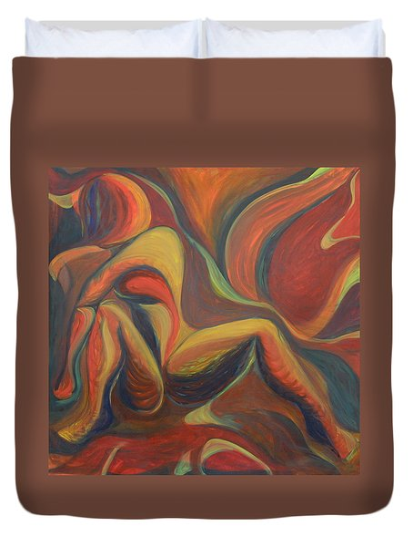 Red Venture Unknown Duvet Cover