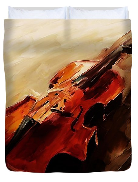 Red Violin  Duvet Cover