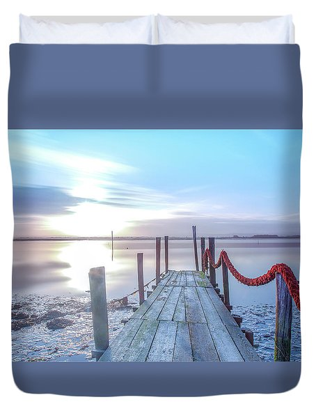 Duvet Cover featuring the photograph Red Vs Blue by Bruno Rosa