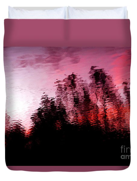 Red Waters Duvet Cover