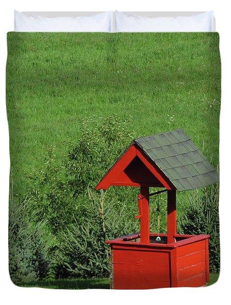 Red Well Duvet Cover