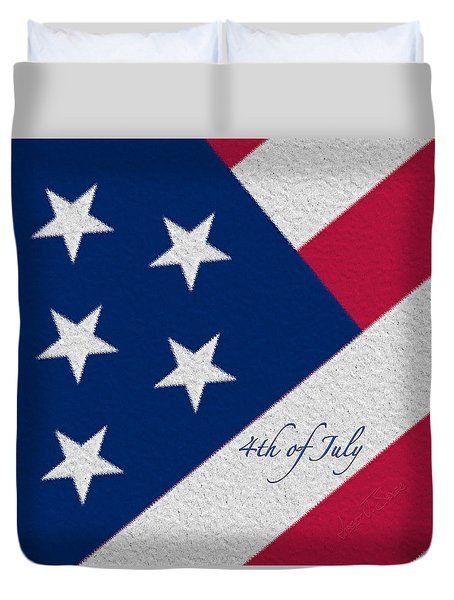 Red White And Blue 4th Of July Duvet Cover