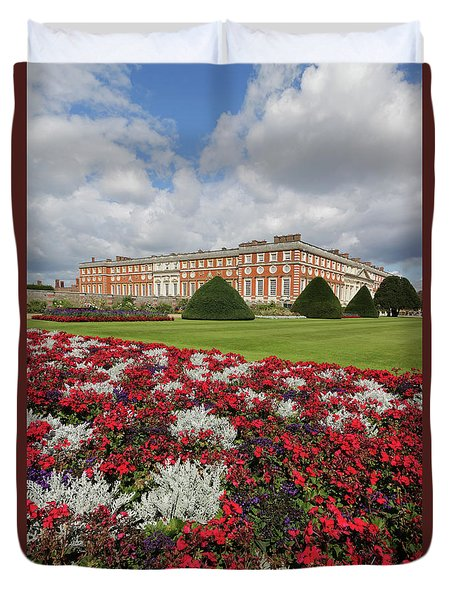 Red White And Blue At Hampton Court Duvet Cover