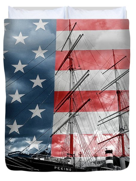 Red White And Blue Duvet Cover