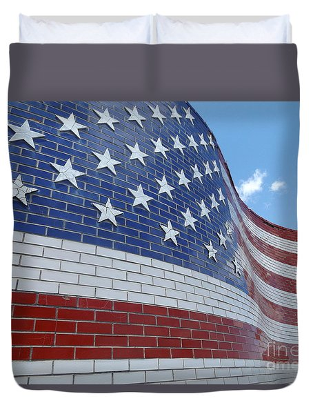 Red White And Brick Duvet Cover