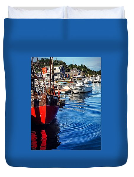 Duvet Cover featuring the photograph Red White Blue by Kendall McKernon