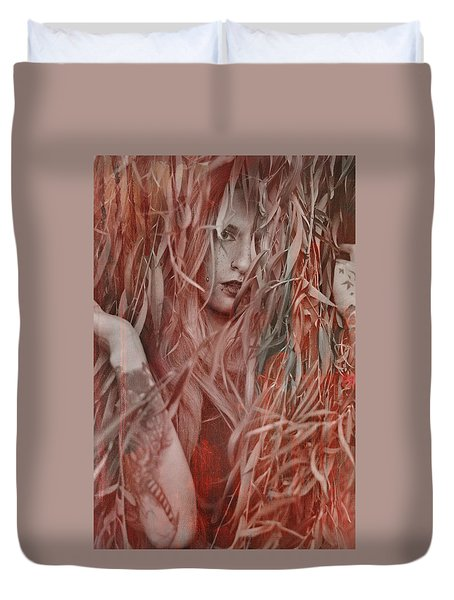 Red Willow  Duvet Cover