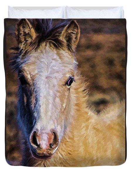 Red Willow Pony Duvet Cover