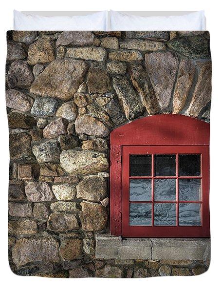Red Window Duvet Cover