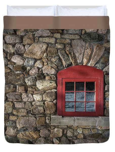 Red Window Duvet Cover