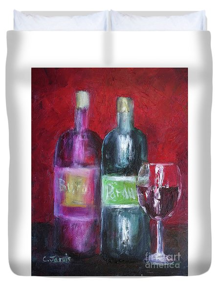 Red Wine Art Duvet Cover
