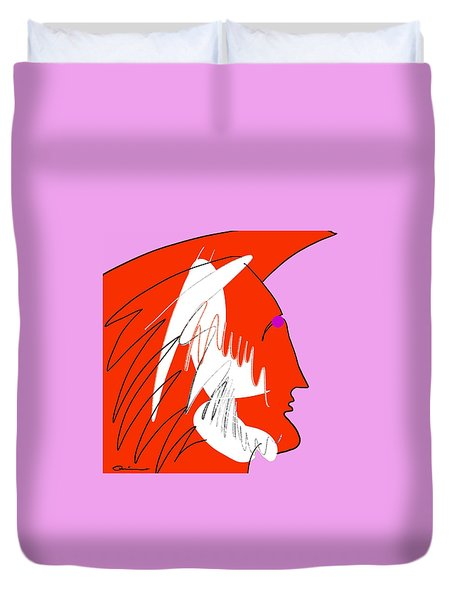 Red Wing Duvet Cover