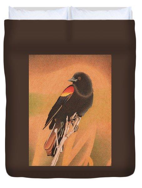 Red-winged Blackbird 3 Duvet Cover