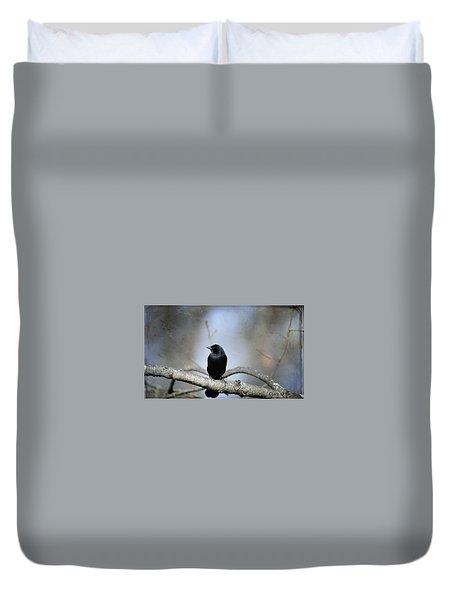 Red-winged Blackbird Duvet Cover