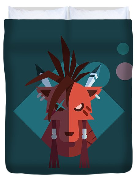Red Xiii Duvet Cover